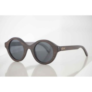 Handmade sunglasses made from DARK BROWN BAMBOO and TAC high quality polarized lenses offering UV 400 protection 1