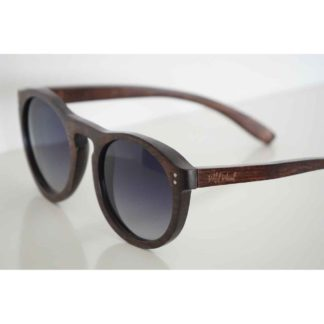 The-Javan-Rhino- sunglasses- is -handmade-with- -a-dark-beech-wood-frame. clsoe up