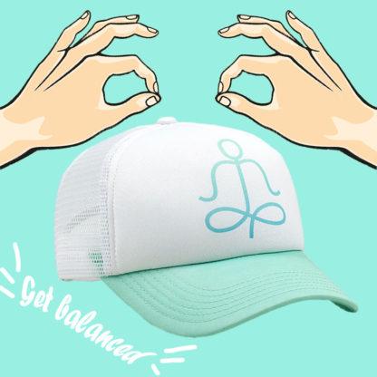 Harmony-aqua-yoga-trucker-hat